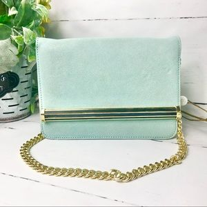 Ivanka Trump Blue/Turquoise Shoulder Handbag
